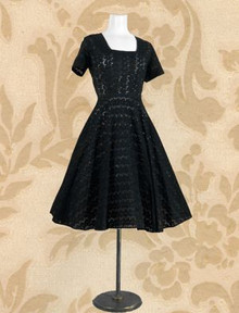 Adorable black eyelet frock