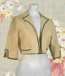 Wool tweed bolero jacket