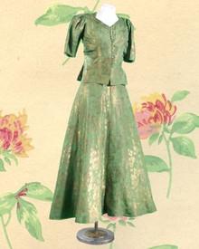 Lovely Venetian green & bronze gown