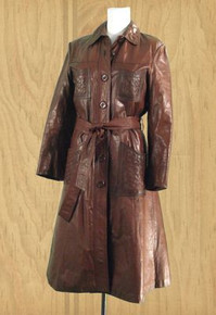 Vintage 1970s leather trench coat