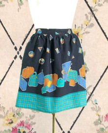 Chic travel themed apron