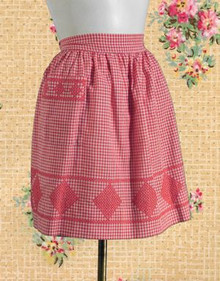 Charming red gingham apron
