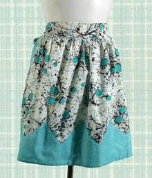 Very retro cotton print apron