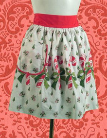 Candy cane print Christmas apron