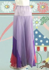 Perky purple pleated palazzo pants