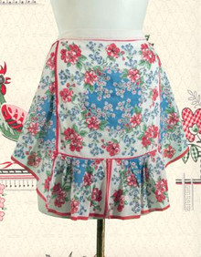 Frilly 1940s floral apron