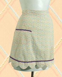 Dainty cotton print apron