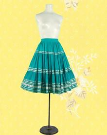 Cotton 1950s peasant skirt