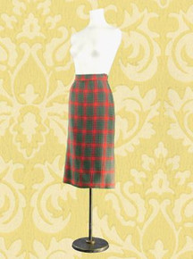 Wool tweed pencil skirt