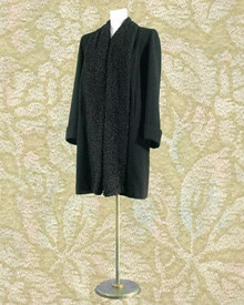 Tailored wool & curly lamb coat