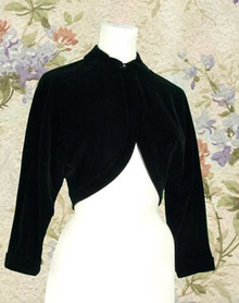 Rockabilly black cotton bolero