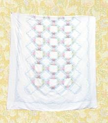 Romantic cotton chenille bedspread