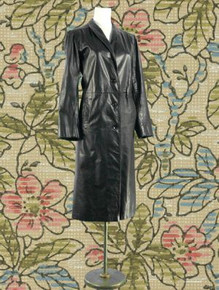 Very vintage black leather coat