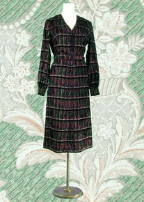 Designer Andre Laug velvet dress