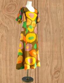 Chiffon expressionist art gown