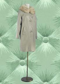 Vintage leather & fox coat 1964