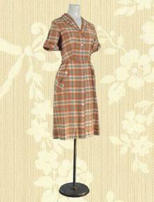 Cotton plaid  day dress