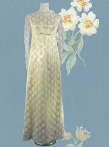 Antique white daisy lace gown