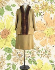 Wool boucle suit from the 40s