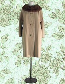 Cashmere, mink  classic car coat