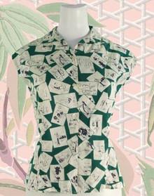 Vintage 1950s breezy cotton blouse