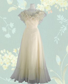 Frothy, creamy, lacy, long gown