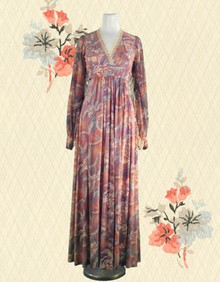 Early 70s Joplin-esque maxi dress