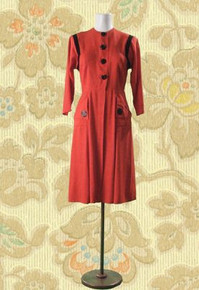 Salmon day dress from the forties