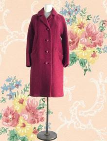 Princess style boucle wool coat 1950s