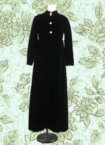 Black velvet evening cloak