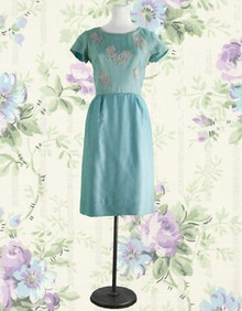 Sky blue cocktail dress from the 50s
