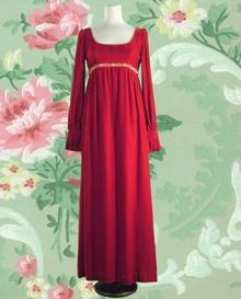 Medieval velvet maxi dress 1960s