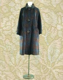 Warm wool tweed winter coat 1950s