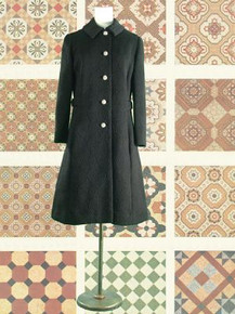 Quilted dress coat with rhinestones 1960s