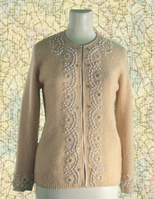 1960s Beaded cardigan sweater