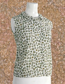 1960s sleeveless cotton blouse