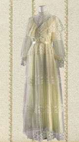 1970s Victorian inspired wedding gown