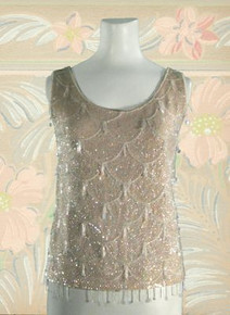1960s Fancy knit sequined tank