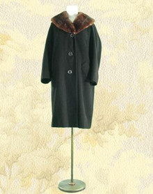 1950s Cashmere and mink coat