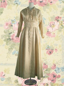 1940s Cream brocade evening gown