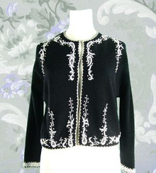 1950s Dressy beaded sweater jacket