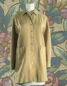 1960s Creamy wool car coat