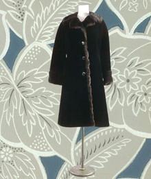 "1960s Faux fur ""Borgazia"" car coat"