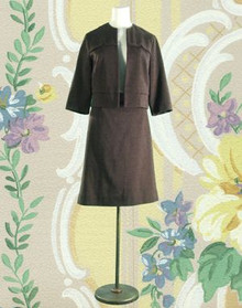 1960s Chocolate brown wool suit