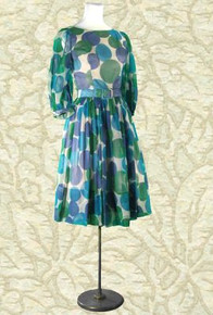 1960s Uber-mod polka dot dress