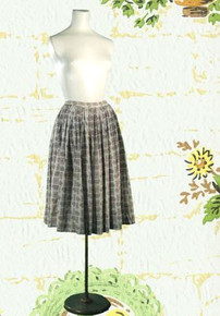 1950s Cotton Dirndl skirt