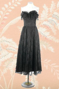 1980s Strapless lace evening dress from 'Jolie'