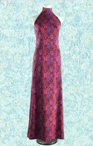1970s Double knit halter gown