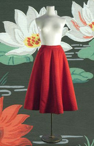 Vintage Jerry Gilden satin crimson skirt