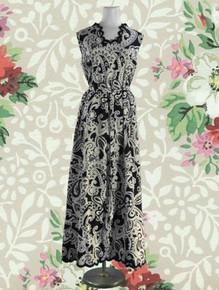 1960s Paisley print maxi dress